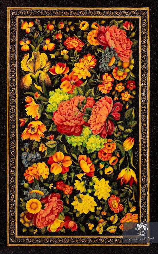 نمونهای از جلد روغنی گل و بتهای