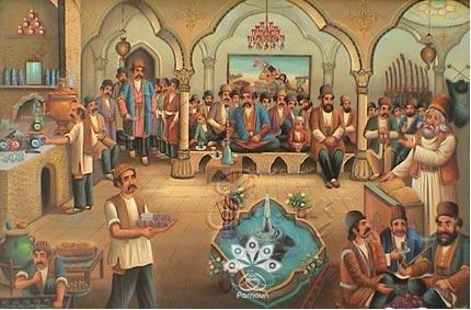 قهوهخانههای قدیم اثر اسماعیل