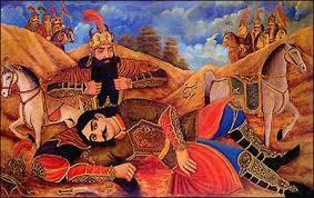 نقاشی قهوهخانهای شاهنامه (رستم و سهراب)